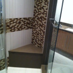 Shower with Corner Bench