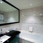 Marble traditional Bathroom